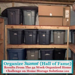 organize basement hall of fame