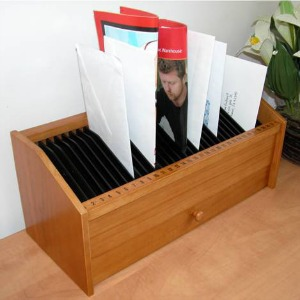 31 day slot wooden bill organizer