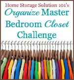 organize master bedroom closet challenge