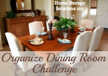 How To Organize Dining Room