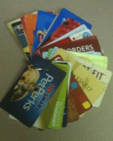 organize gift cards