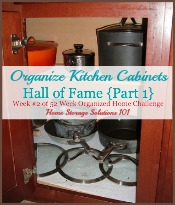 organize kitchen cabinets hall of fame {part 1}