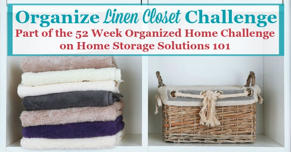 Here Are Step By Step Instructions For How To Organize Your Linen Closet,  Including Organizing ...