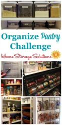 Organize Pantry Challenge