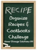organize recipes and cookbooks challenge