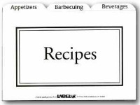 pre-printed recipe card dividers