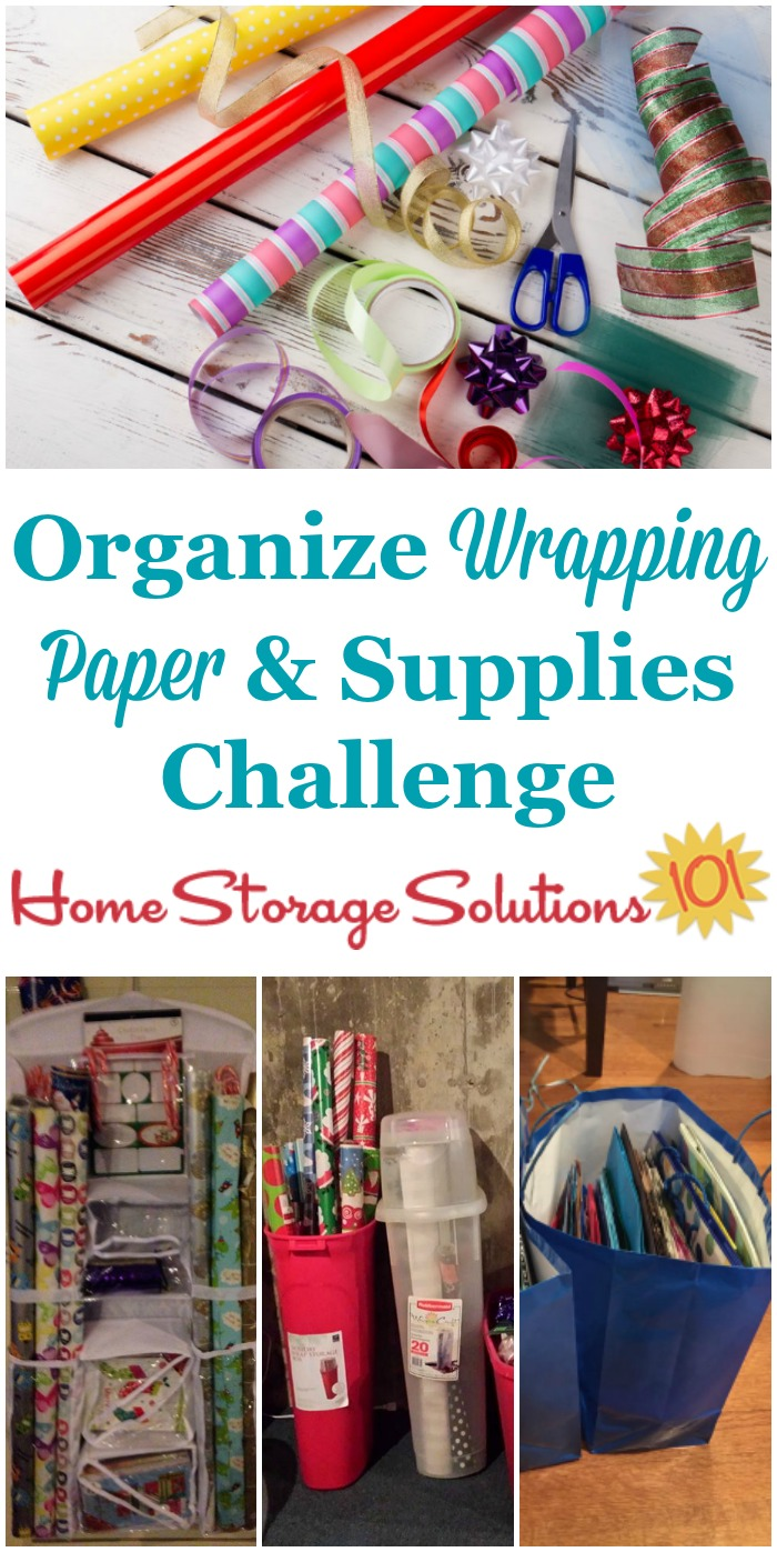 59e3ab1aae1 Here are step by step instructions for how to organize wrapping paper and  other gift wrap ...