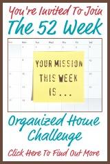 organized home challenge