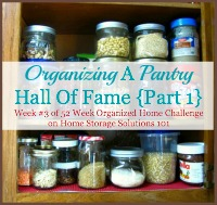 organizing a pantry hall of fame {part 1}