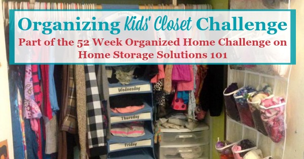 5143f94daa6 Here are step by step instructions for decluttering and organizing closet  space for your kids