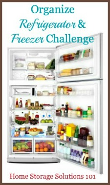 Organizing Refrigerator And Freezer Challenge: Step By Step Instructions {Part of the 52 Weeks to an Organized Home Challenge on Home Storage Solutions 101} #OrganizedHome #HomeStorageSolutions101 #52WeekChallenge
