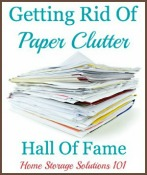 getting rid of filing and paper clutter hall of fame