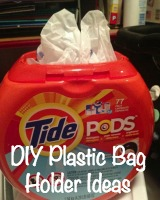 DIY plastic bag holder ideas