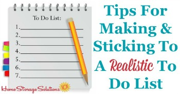 Tips for making and sticking to a realistic to do list