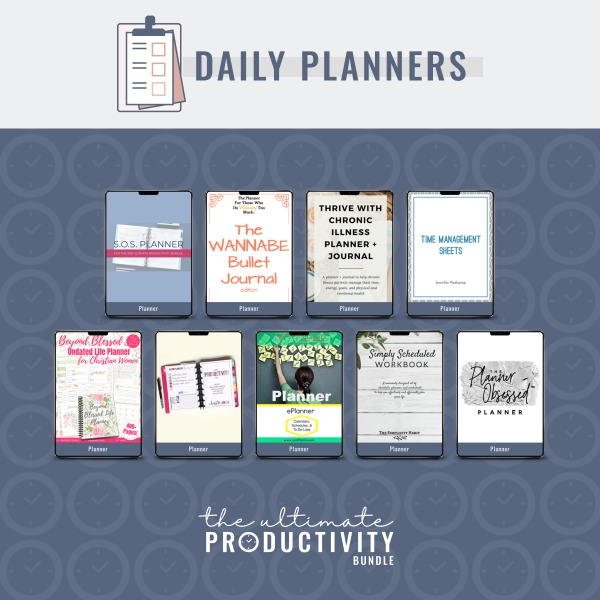 Daily planners included in the 2019 Ultimate Productivity Bundle