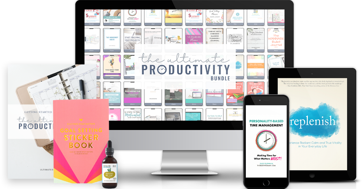 The Ultimate Productivity Bundle has 46 resources to help you with time management, goal setting, and productivity at work and home, including printables, eBooks and eCourses, that is worth more than $1,500, but for over 97% off. Hurry, it's only available for a limited time at this price {more information on Home Storage Solutions 101}