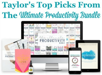 Taylor's top picks from the Ultimate Productivity Bundle