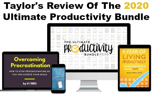Taylor's review of the 2020 Ultimate Productivity Bundle