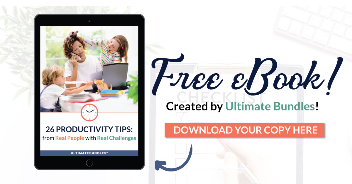 Here's how to get a productivity ebook, called 26 Productivity Tips From Real People With Real Challenges, that will help you free up 1-2 hours a week to do the things you want to do {on Home Storage Solutions 101}
