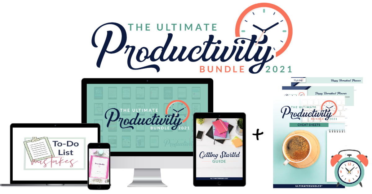 The Ultimate Productivity Bundle has 29 resources to help you with time management, goal setting, and productivity at work and home, including printables, eBooks and eCourses, that is worth more than $1,200, for just $37 {more information on Home Storage Solutions 101}