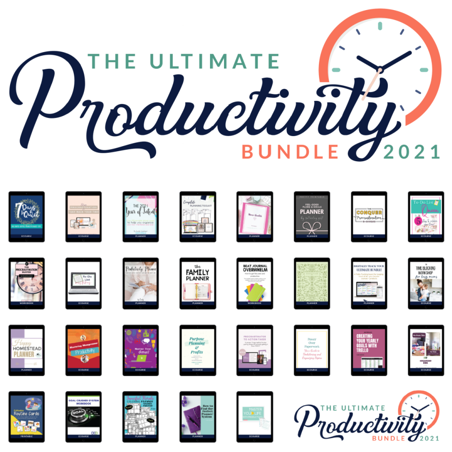All of the products in the 2021 Ultimate Productivity Bundle