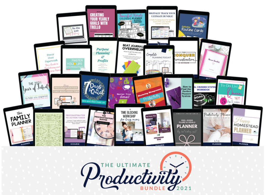 All the products in the 2021 Ultimate Productivity Bundle
