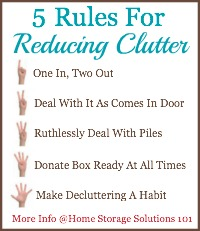 Five Rules For Reducing Clutter In Your Home