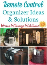 remote control organizer ideas and solutions