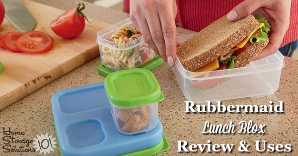 The Rubbermaid Lunch Blox system is a fun and easy way to pack a healthy, portion-controlled lunch for work or school. Here are ideas for how to use them {featured on Home Storage Solutions 101}