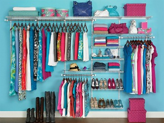 rubbermaid wall closet storage system