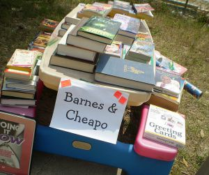sell books at yard sale