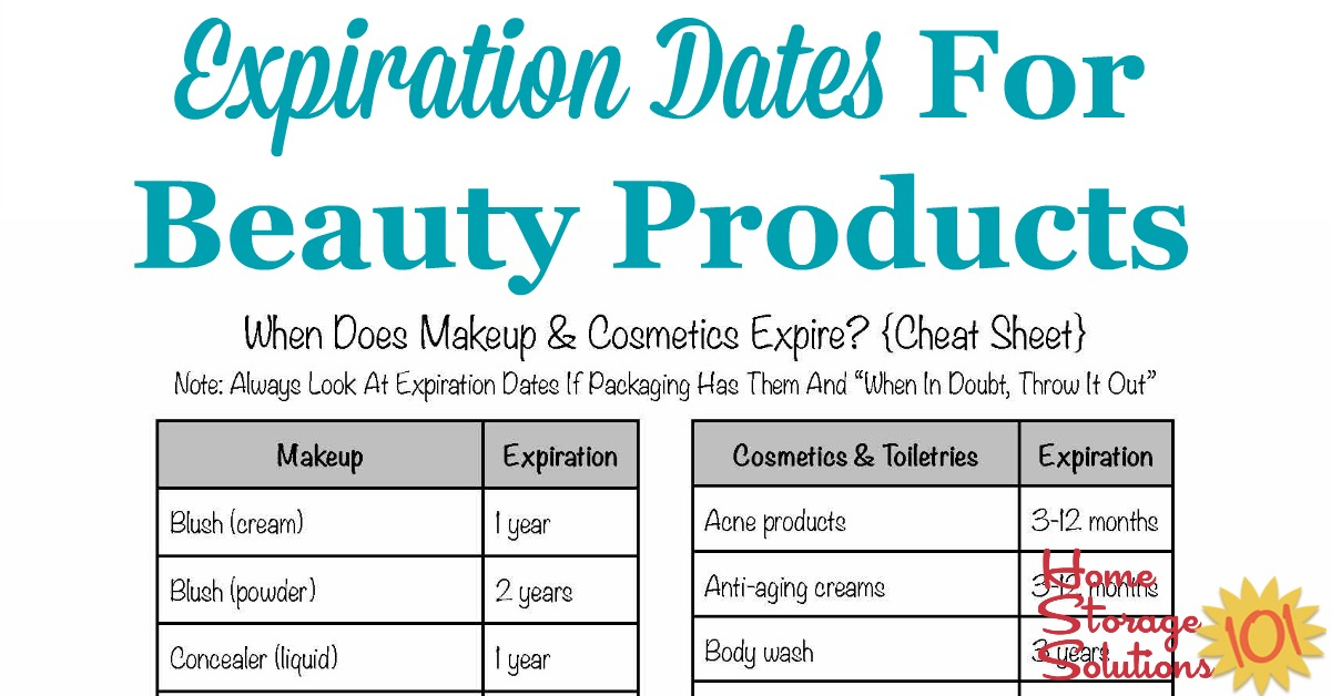 Shelf Life Of Makeup Cosmetics Expiration Dates