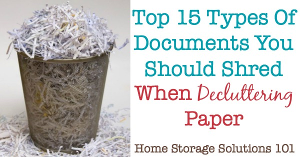 Trash Versus Shred Documents Which To Choose When