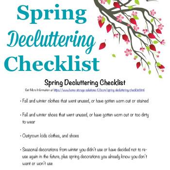 spring decluttering checklist