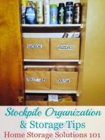 stockpile organization and storage tips