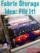 How to store fabric: file it!