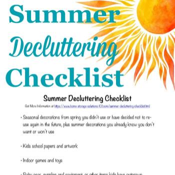 summer decluttering checklist