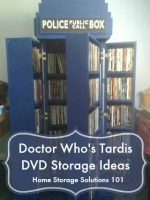Elegant Tardis DVD Storage Ideas