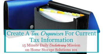 Create a tax organizer for current year's tax information