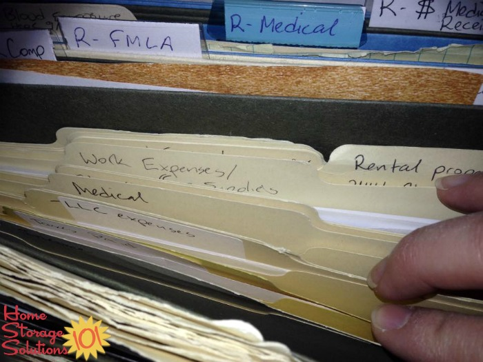 Current year receipt files, saved for tax purposes {on Home Storage Solutions 101}