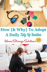 How and why to adopt a daily tidy up routine