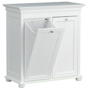 white tilt out hamper