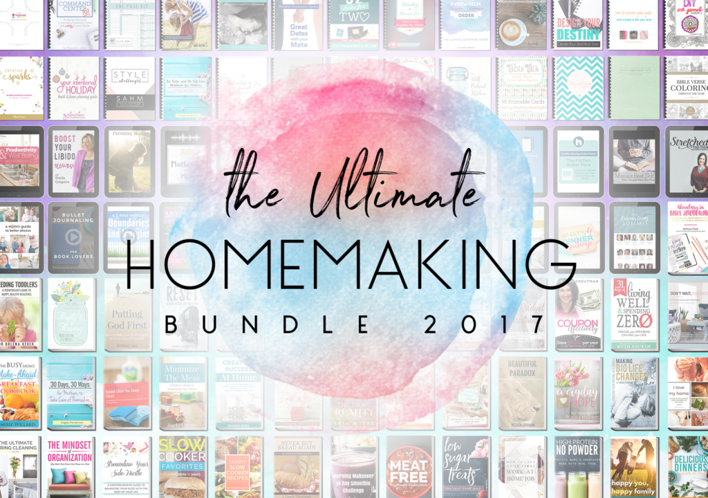 Learn more about the Ultimate Homemaking Bundle, which has 106 resources for one low price to help you succeed in all aspects of homemaking.