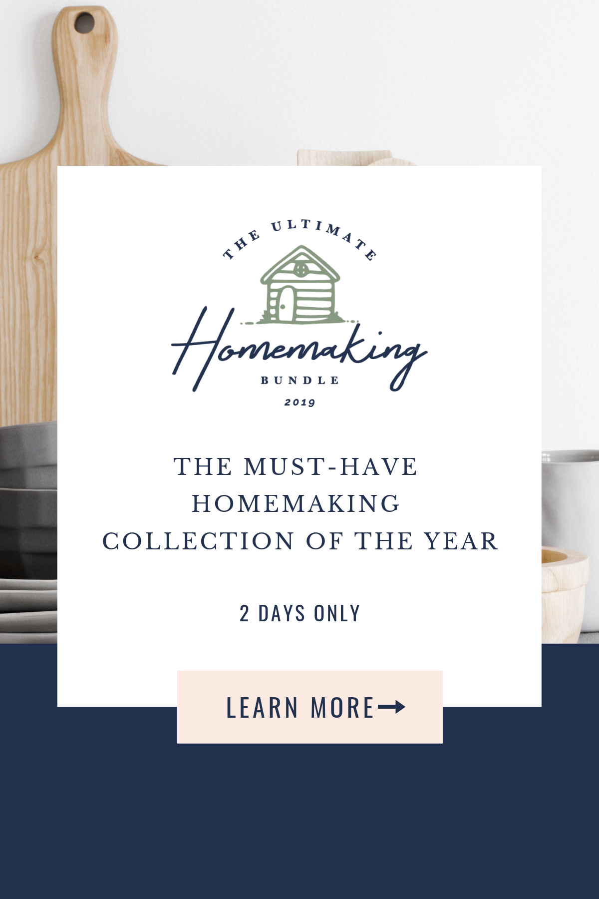 The Ultimate Homemaking Bundle has over 104 resources to help you improve your home and life, including printables, eBooks and eCourses that are worth more than $2,200, but for over 98% off, but it's only available for a limited time {more information on Home Storage Solutions 101}