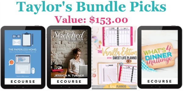Taylor's bundle picks
