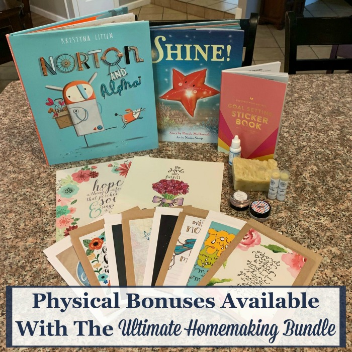 Physical bonuses available with the 2019 Ultimate Homemaking Bundle