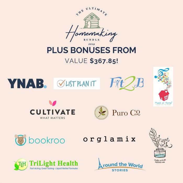 Bonuses for the 2019 Ultimate Homemaking Bundle