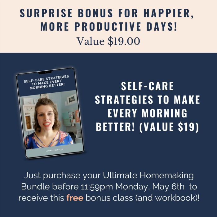 Surprise bonus for the 2019 Ultimate Homemaking Bundle