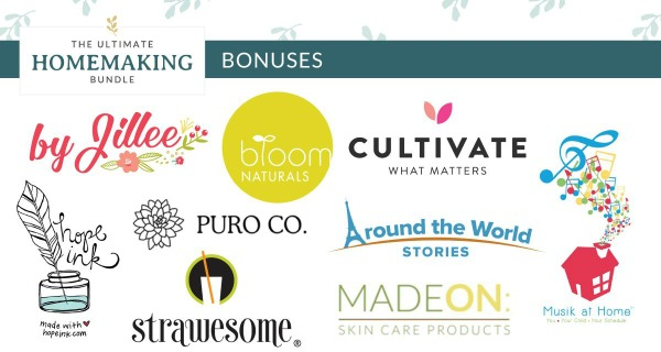 Act fast to get this Early Bird bonus when you purchase the 2020 Ultimate Homemaking Bundle