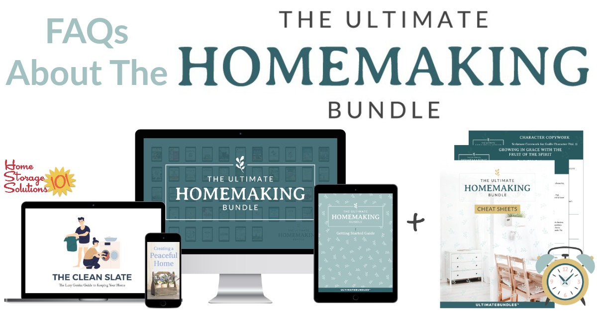 Learn more about the Ultimate Homemaking Bundle, which has 51 resources for one low price to help you succeed in all aspects of homemaking.